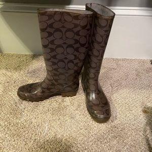 Coach rainboots